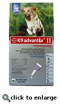 K9 ADVANTIX II Blue for dogs over 55 lbs 6 Pack