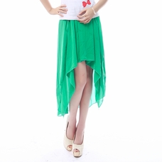 Kelly Green Hi-Low Skirt