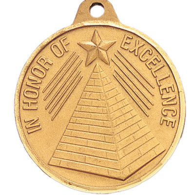 "1-1/2 Inch Diamond Cut Border ""In Honor of Excellence"" Medal"