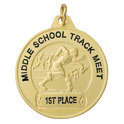 1-1/2 Inch Male Track Medal-Imprintable