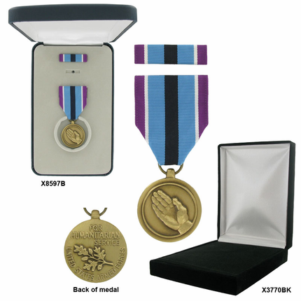1-1/4 Inch Humanitarian Service Military Medal