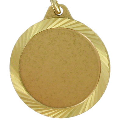 1-1/4 Inch Medal Frame with Diamond Cut Border-Holds 1 Inch Medallion Insert Disc