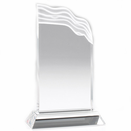 10 Inch Optical Crystal Wave Trophy