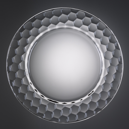 12-1/2 Inch Honeycomb Glass Charger Plate