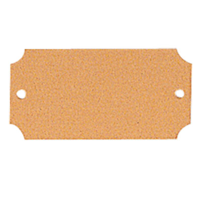 2-1/2  x 1-1/4 Inches Gold Plate