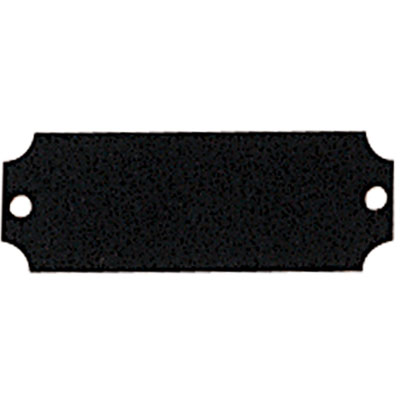 2-1/2 x 7/8 Inch Black  Plate with Notched Corners