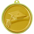 2-1/4 Inch Medal Frame with 2 Inch Graduation Cap, and Scroll Medallion Insert Disc