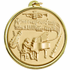 2-1/4 Inch Medal Frame with 2 Inch Piano Player and  Musical Instruments Medallion Insert Disc
