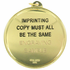 2-1/4 Inch Medal Frame with Writing Medallion Insert Disc