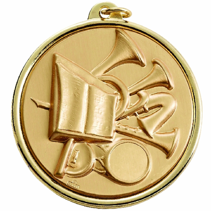 2-1/4 Inch Medal Frame with Music Band Medallion Insert Disc