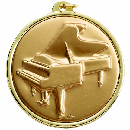 2-1/4 Inch Medal Frame with 2 Inch Piano Medallion Insert Disc