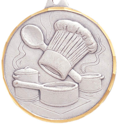 2 Inch Diamond Cut Border Culinary Arts Medal