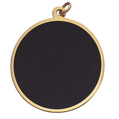 2 Inch Round Black Screen Blank Medal-Engravable