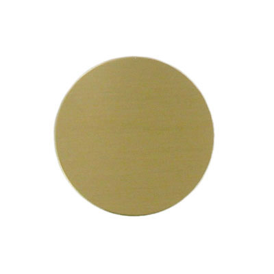 2 Inch Gold Satin Brass Plated Disc