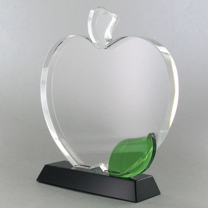 6-1/2 x 5-1/2 Inches Optical Crystal  Apple