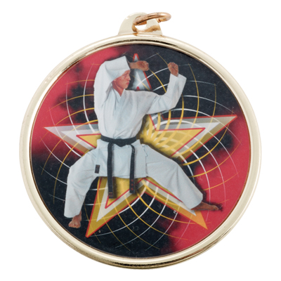 2-1/4 Inch Medal Frame with 2 Inch Martial Arts Mylar Insert Label