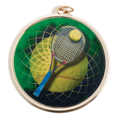 2-1/4 Inch Medal Frame with 2 Inch Tennis Mylar Insert Label