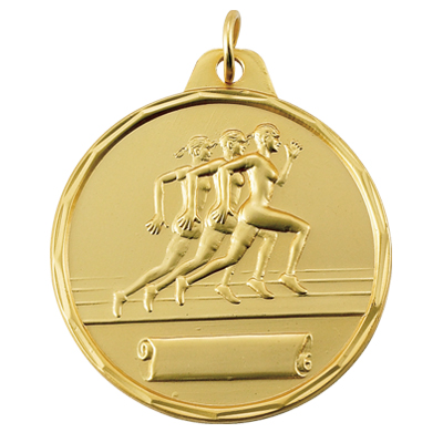 1-1/2 Inch Scallloped Border Female Runners with Scroll Medal