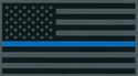 """Police Thin Blue Line Subdued American Flag Decal 4.25"""""""