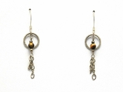 Sterling Silver and Tigereye Dangle Earrings