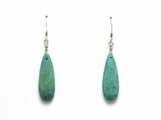 Turquoise Teardrop Pendant Dangle Earrings