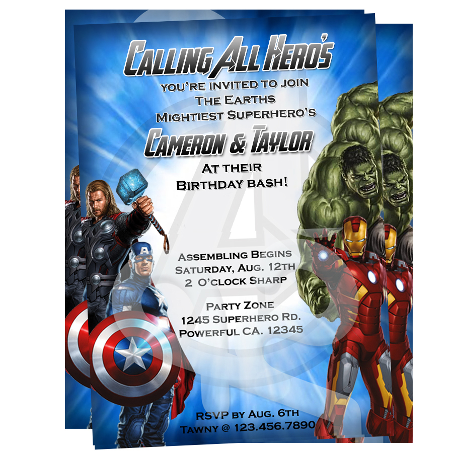 Avengers Party Invitations can inspire you to create best invitation template