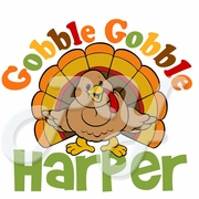 Gobble Gobble personalized turkey Thanksgiving t shirt