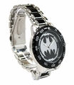 Batman Logo Watch with Black Metal Bracelet Band (BAT8025)