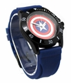 Captain America Blue Rubber Shield Watch (CTA1101)