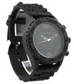 Man of Steel - Superman - Black on Black - Silicon Strap Watch (MOS9022)