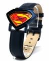 Man of Steel Superman Shield Watch - Blue - Leather Strap (MOS 5008)