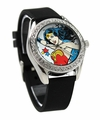 Wonder Woman Black Rubber Strap Character Watch (WOW 5013)