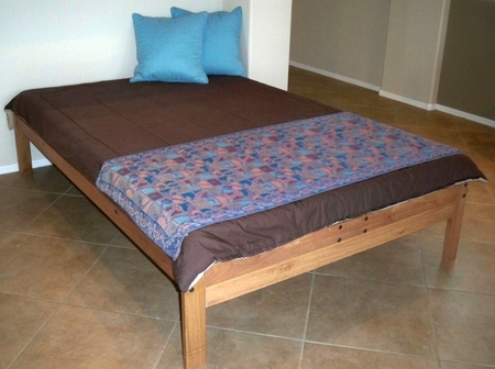 Full Size Santa Cruz Platform Bed<br>(Toasted Pecan)