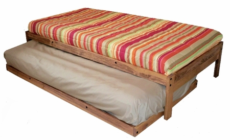 full size santa cruz trundle bed set toasted pecan