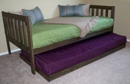 Mission Daybed with Trundle (Rustic Walnut)