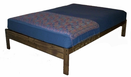 Queen Size Santa Cruz Platform Bed<br>(Rustic Walnut)