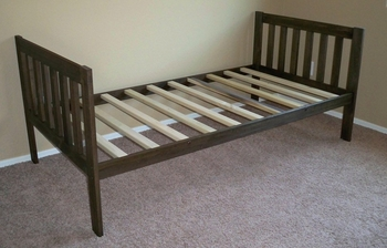 Twin Size Mission Daybed (Rustic Walnut)