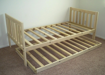 Twin Size Mission Daybed with Trundle