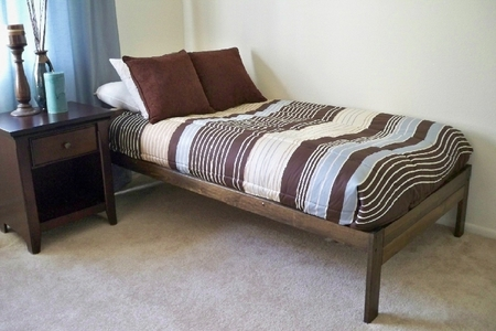 twin size santa cruz bed rustic walnut