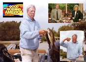 GOOD MORNING AMERICA host fishes, is an early pioneer of Flying Lure.