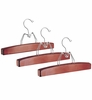 Cherry Wood Skirt and Trouser Hangers - Set of 3