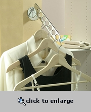 Chrome Wall Mount Clothing Storage Valet