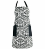 Cooking Apron - Black Damask