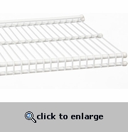 freedomRail Wire Shelf White 9 x 96 Inch
