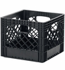 Heavy-Duty Milk Crate - Black