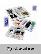 Interlocking Drawer Organizer Bins