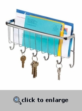 Mounted Mail and Key Rack - Chrome