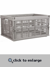 Plastic Collapsible Crate - Gray