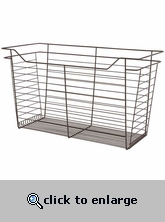 Sliding Wire Closet Basket 17 x 17 x 14