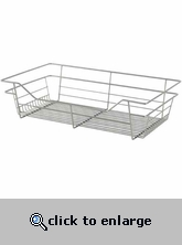 Sliding Wire Closet Basket 17 x 6 x 14